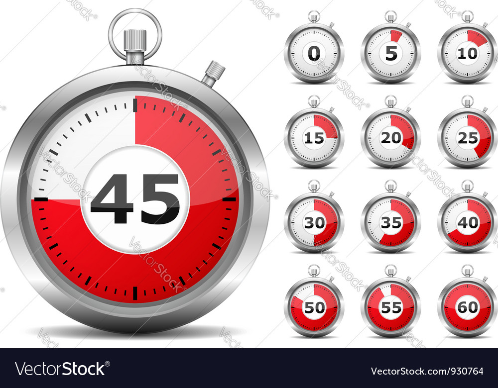 Red timers vector | Price: 3 Credit (USD $3)