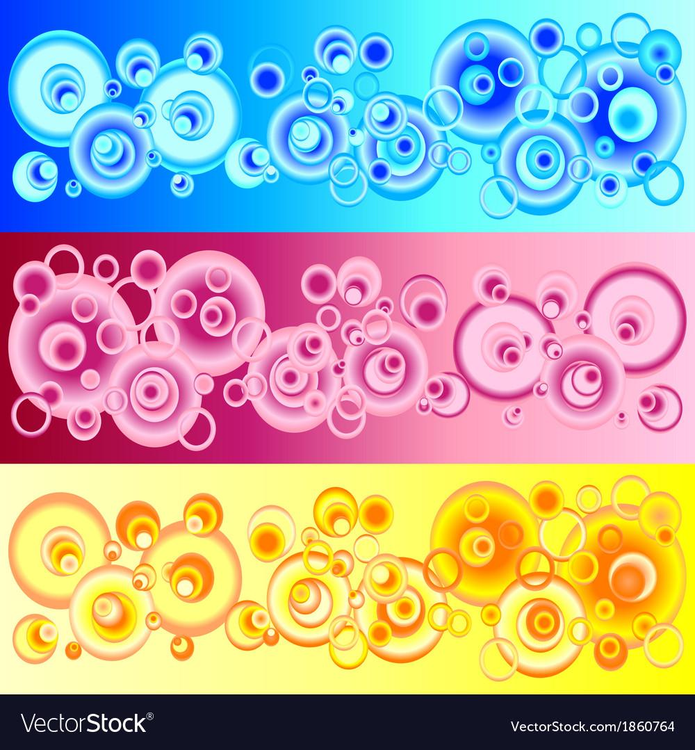 Set pattern circles vector | Price: 1 Credit (USD $1)