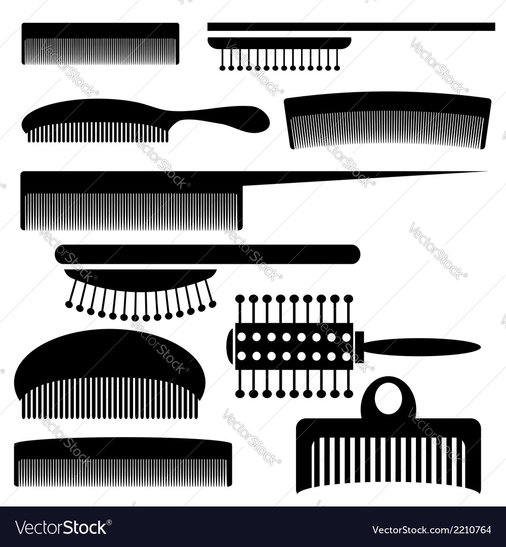 Silhouettes of combs vector | Price: 1 Credit (USD $1)