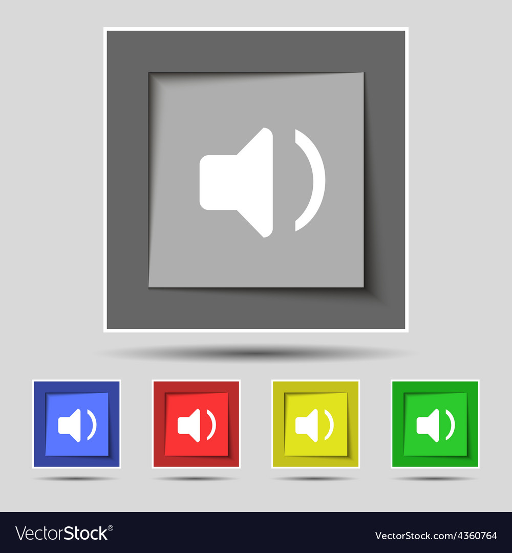 Speaker volume sound icon sign on the original vector | Price: 1 Credit (USD $1)