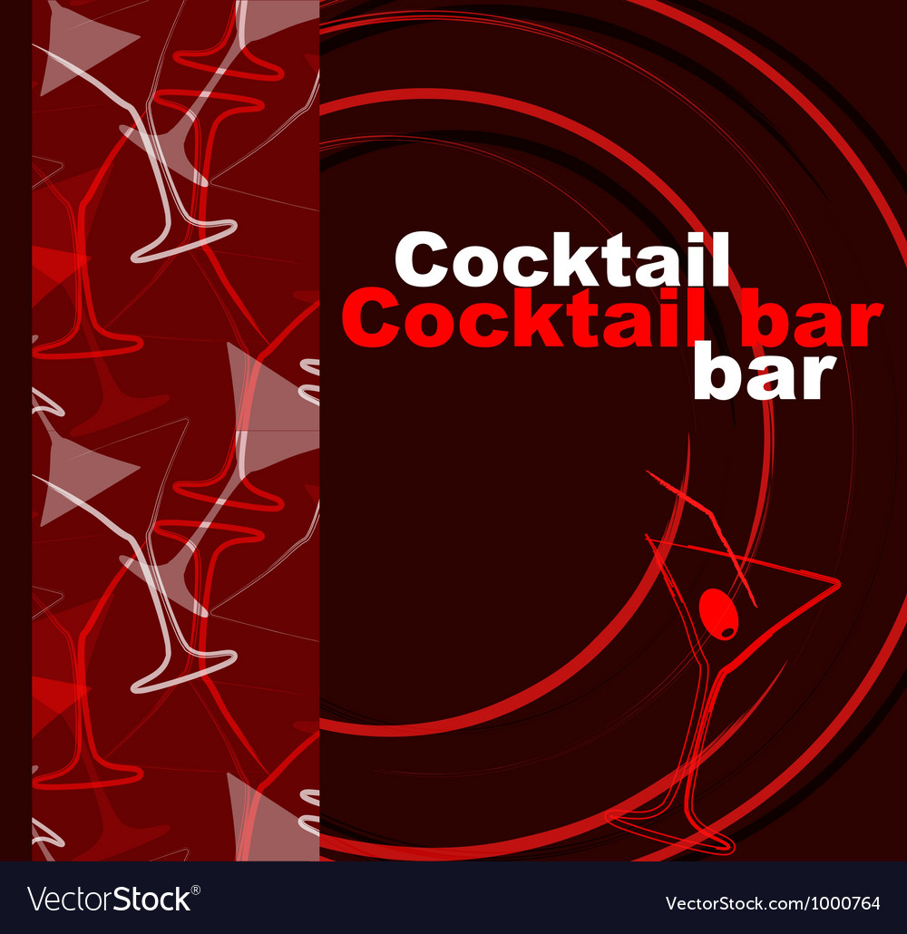 Template of a cocktail bar vector   Price: 1 Credit (USD $1)