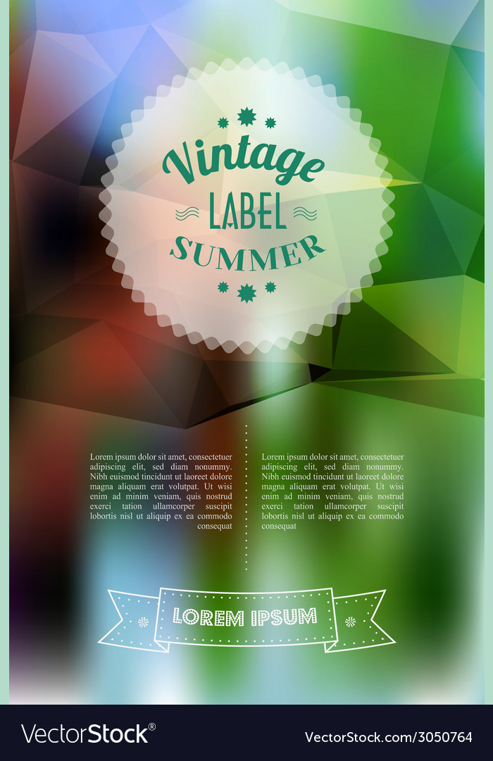 Vintage sale discount label on modern blurred vector | Price: 1 Credit (USD $1)