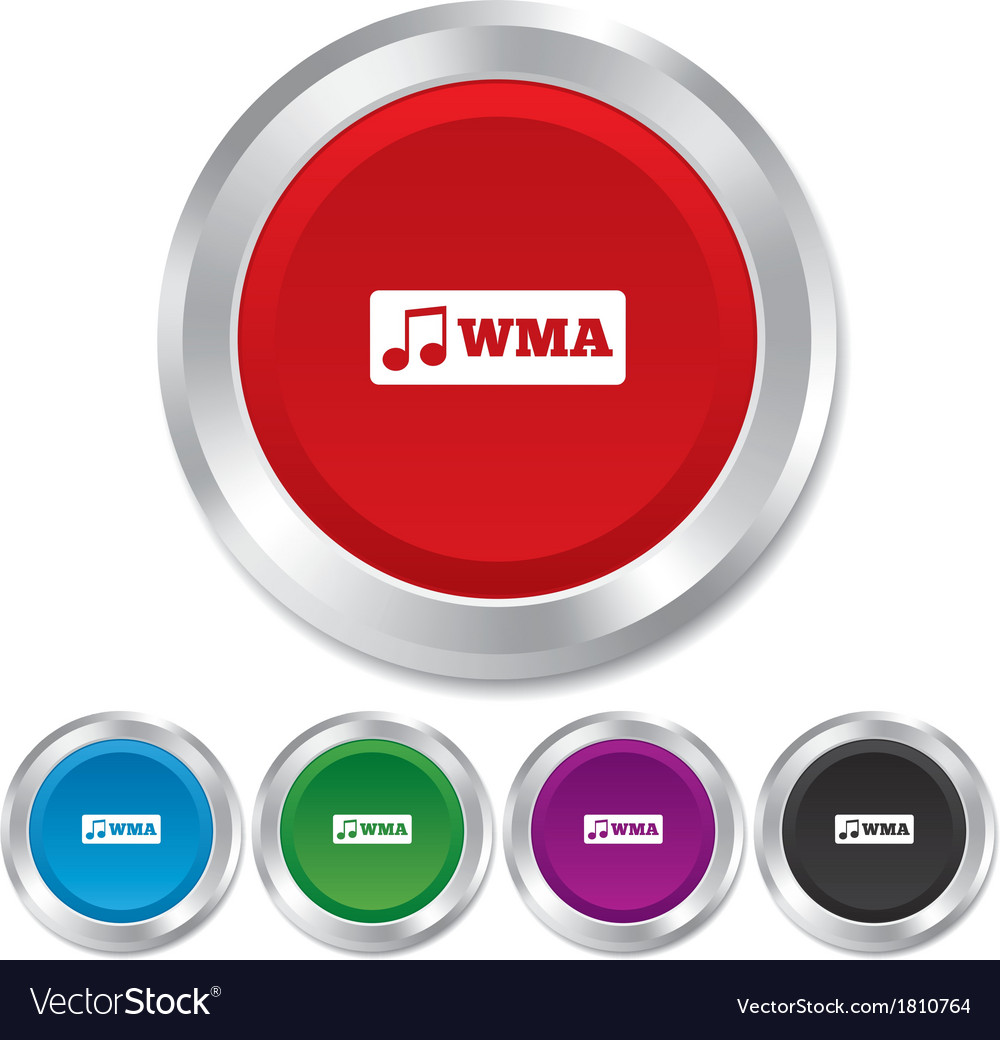 Wma music format sign icon musical symbol vector   Price: 1 Credit (USD $1)