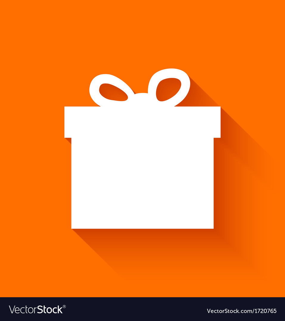 Abstract christmas gift box on orange background vector | Price: 1 Credit (USD $1)