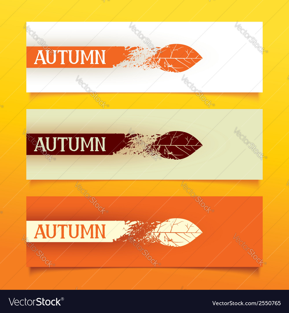 Autumn banners vector | Price: 1 Credit (USD $1)