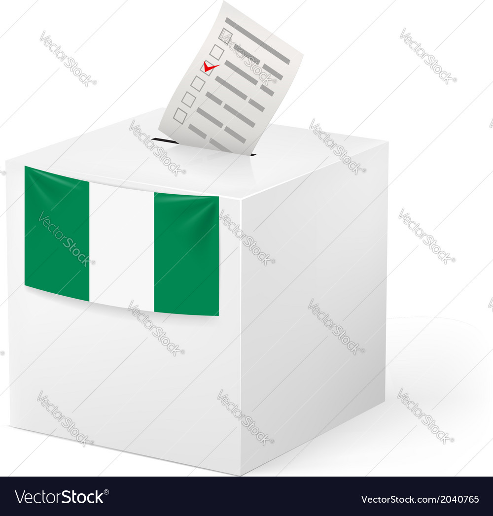 Ballot box with voting paper nigeria vector | Price: 1 Credit (USD $1)