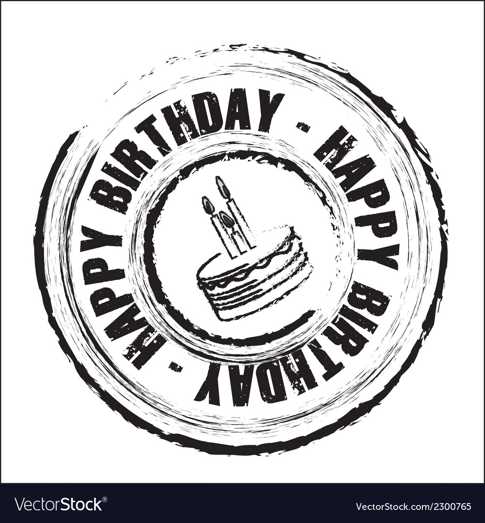 Birthday round seal vector | Price: 1 Credit (USD $1)
