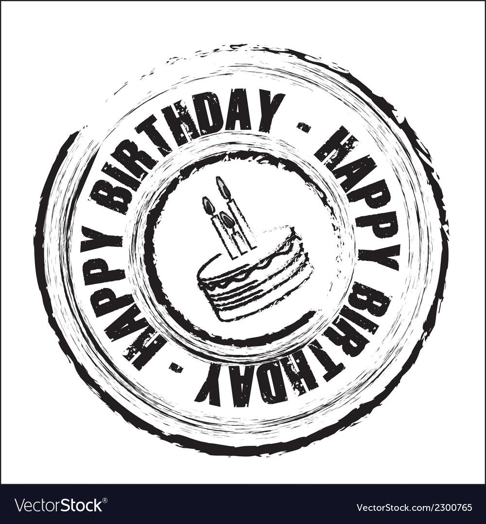 Birthday round seal vector | Price: 1 Credit (USD $1)