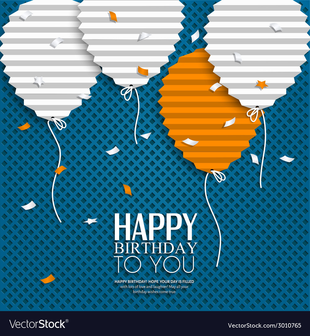 Birthday wish with balloons in the style of flat vector | Price: 1 Credit (USD $1)