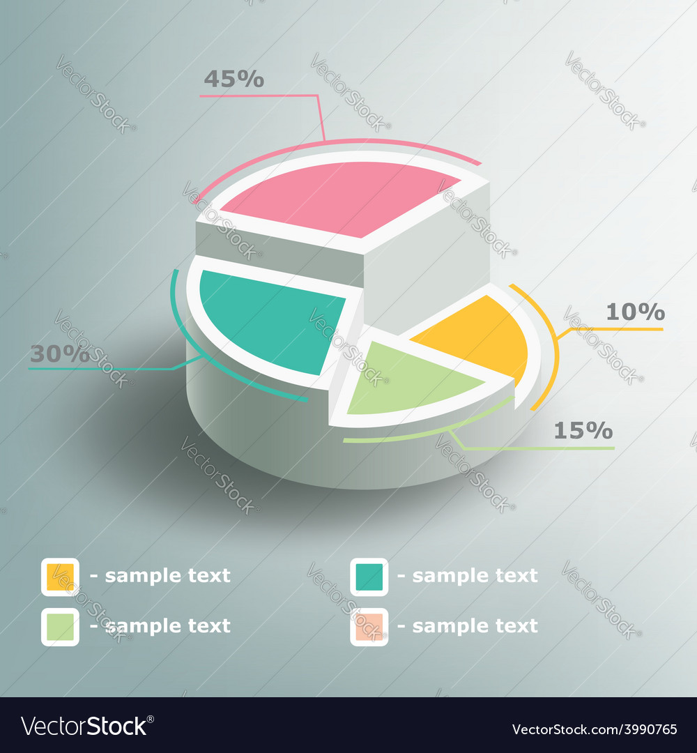 Business infographics circle graph vector | Price: 1 Credit (USD $1)