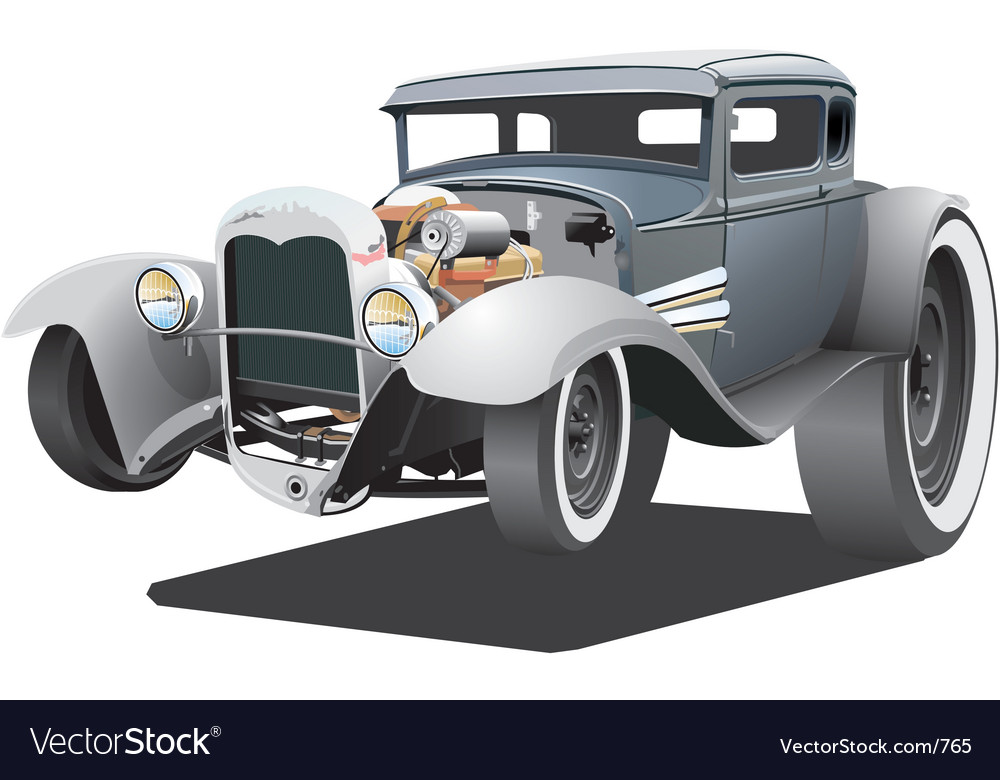 Cartoon ratrod vector | Price: 5 Credit (USD $5)