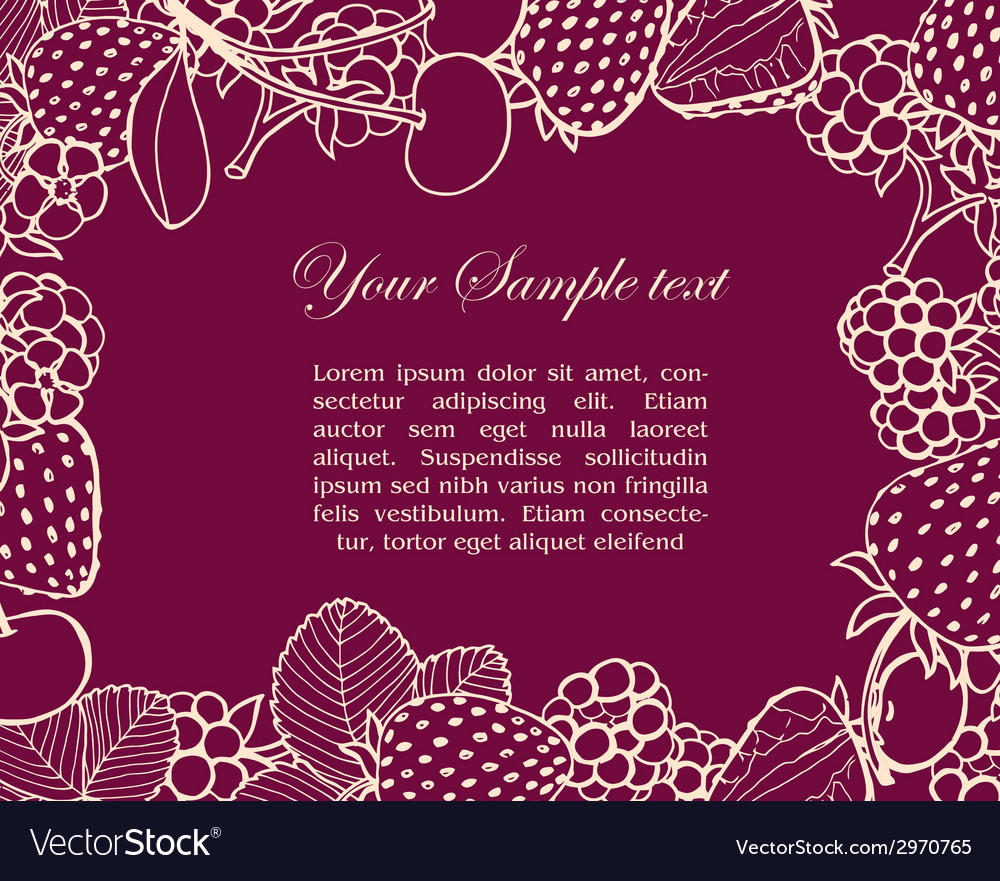 Frame of berries vector | Price: 1 Credit (USD $1)
