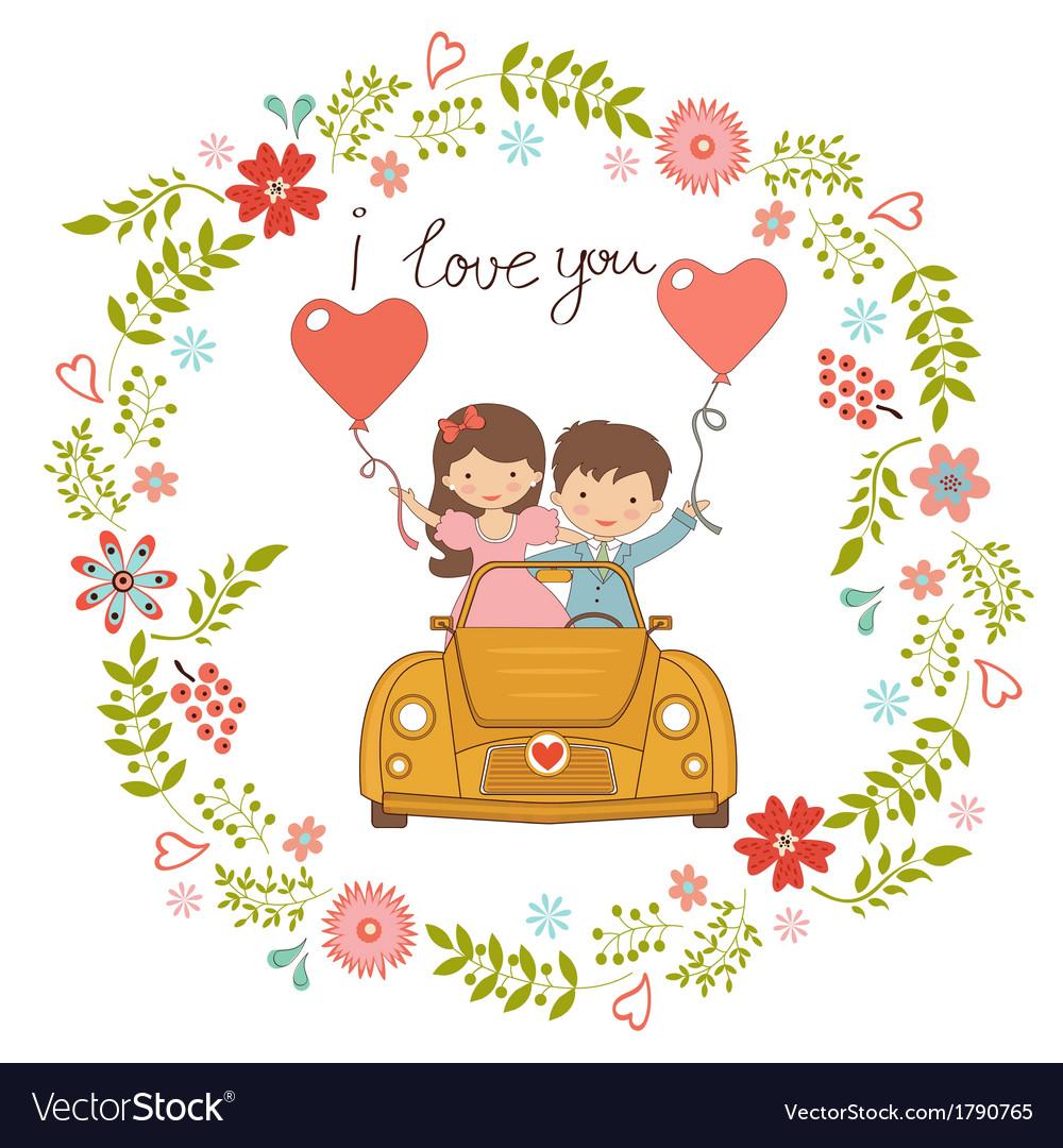 Happy couple vector | Price: 1 Credit (USD $1)