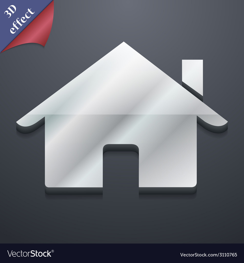 Home icon symbol 3d style trendy modern design vector | Price: 1 Credit (USD $1)