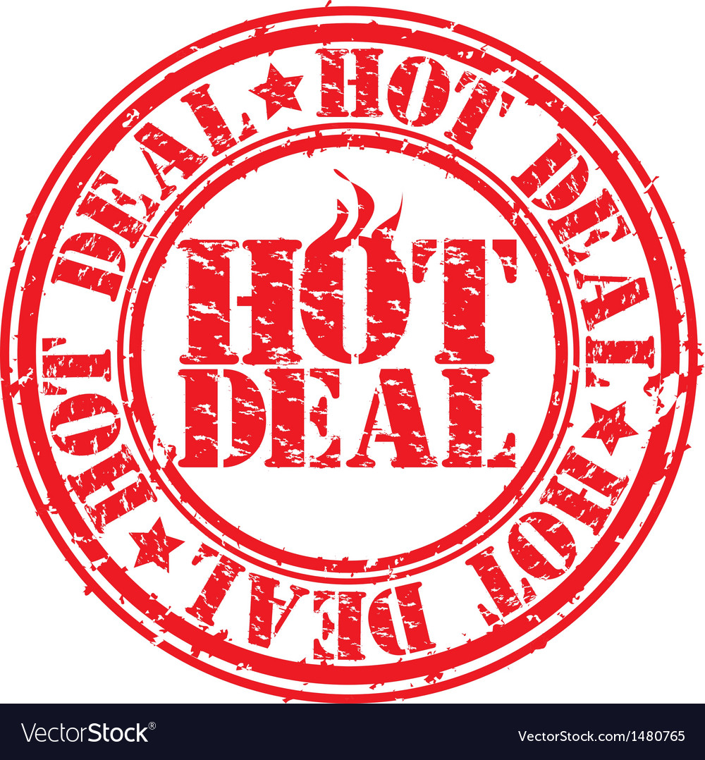 Hot deal stamp vector | Price: 1 Credit (USD $1)