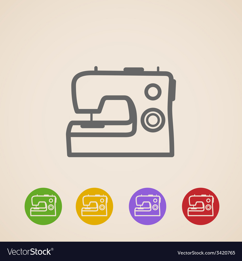 Sewing machine icons vector | Price: 1 Credit (USD $1)