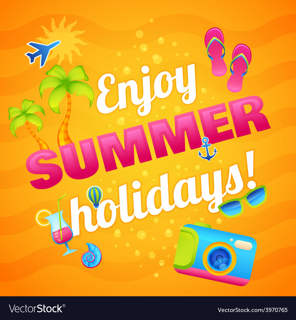 Summer vacation poster vector   Price: 1 Credit (USD $1)