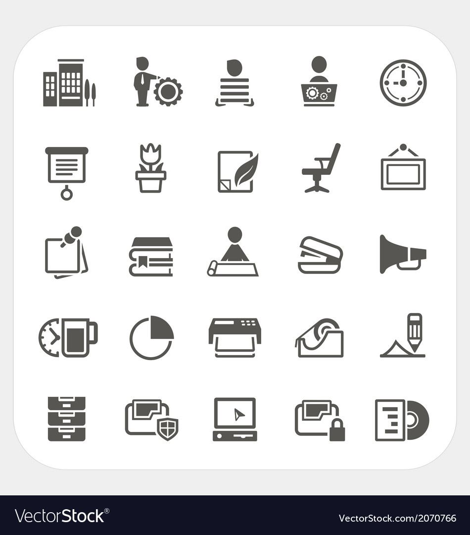 Business and office icons set vector   Price: 1 Credit (USD $1)