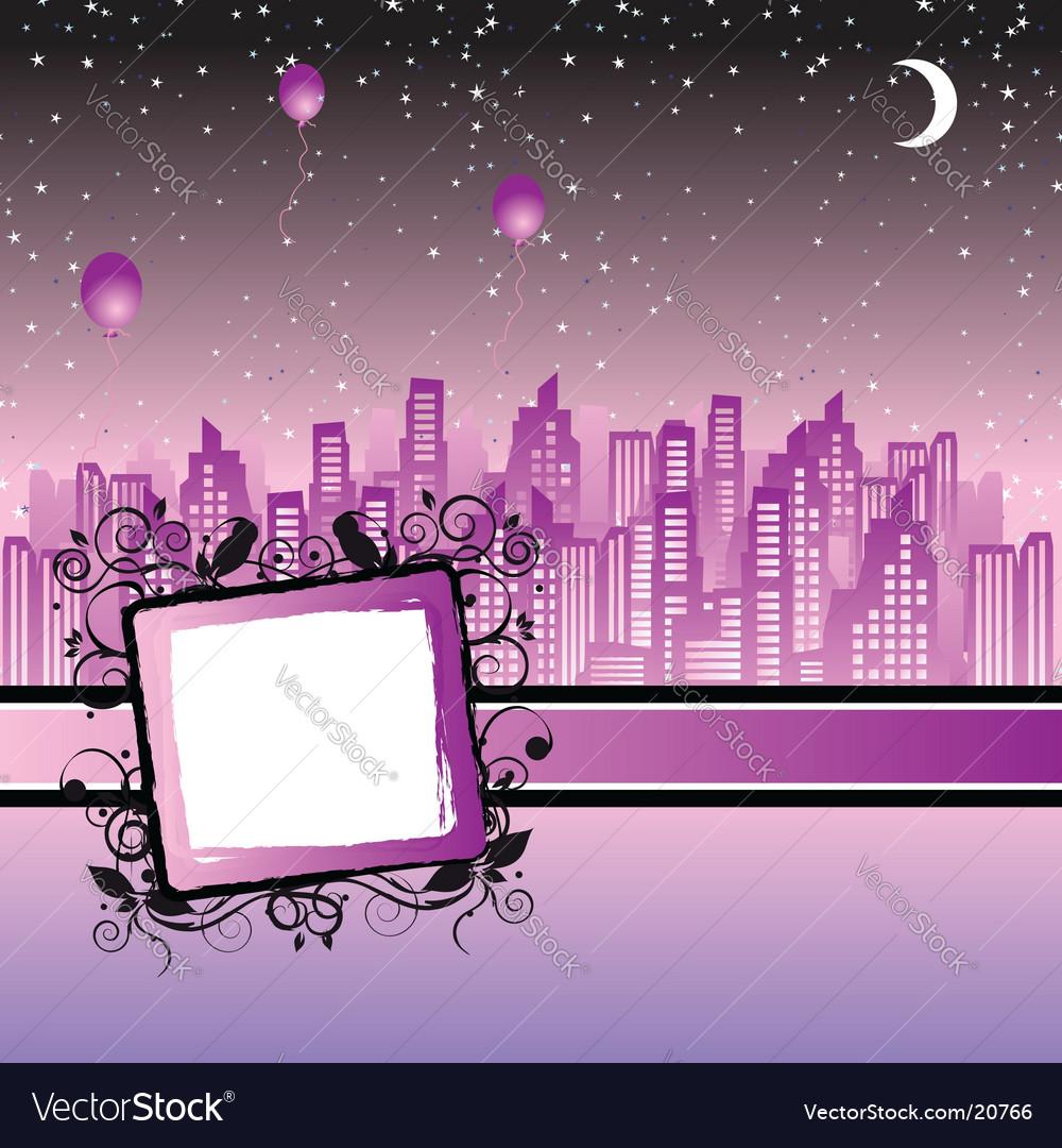 Cityscape silhouette frame vector   Price: 1 Credit (USD $1)