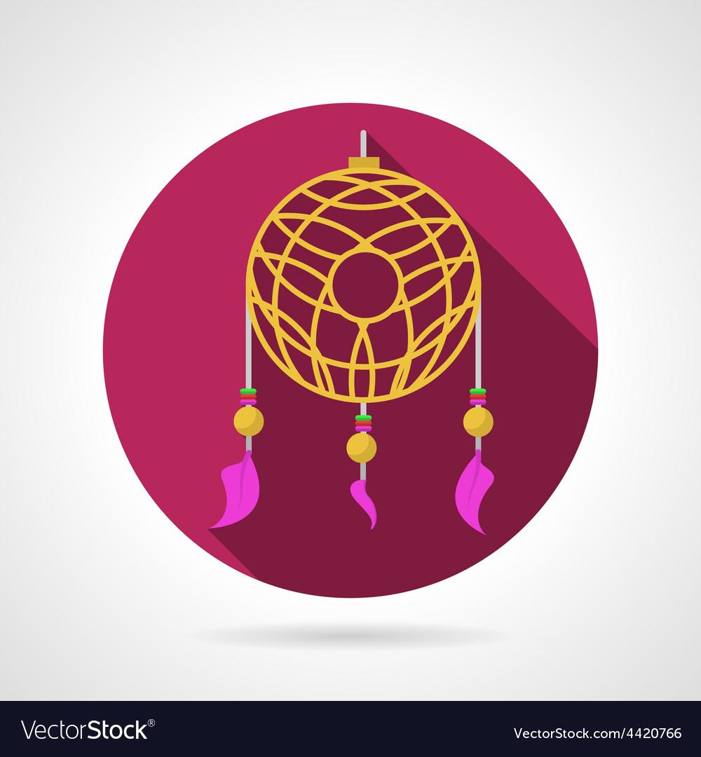 Dream catcher colored icon vector | Price: 1 Credit (USD $1)