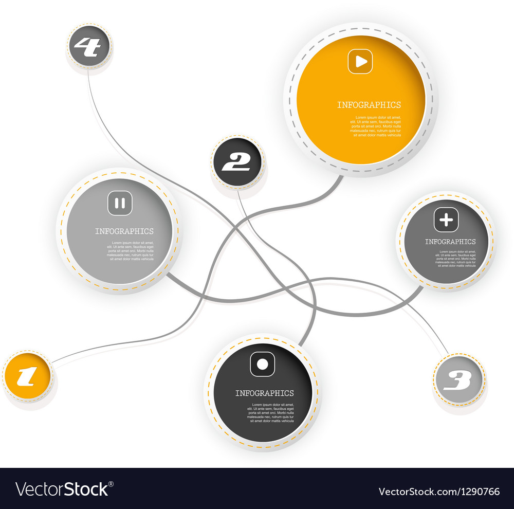 Four colored circles vector | Price: 1 Credit (USD $1)