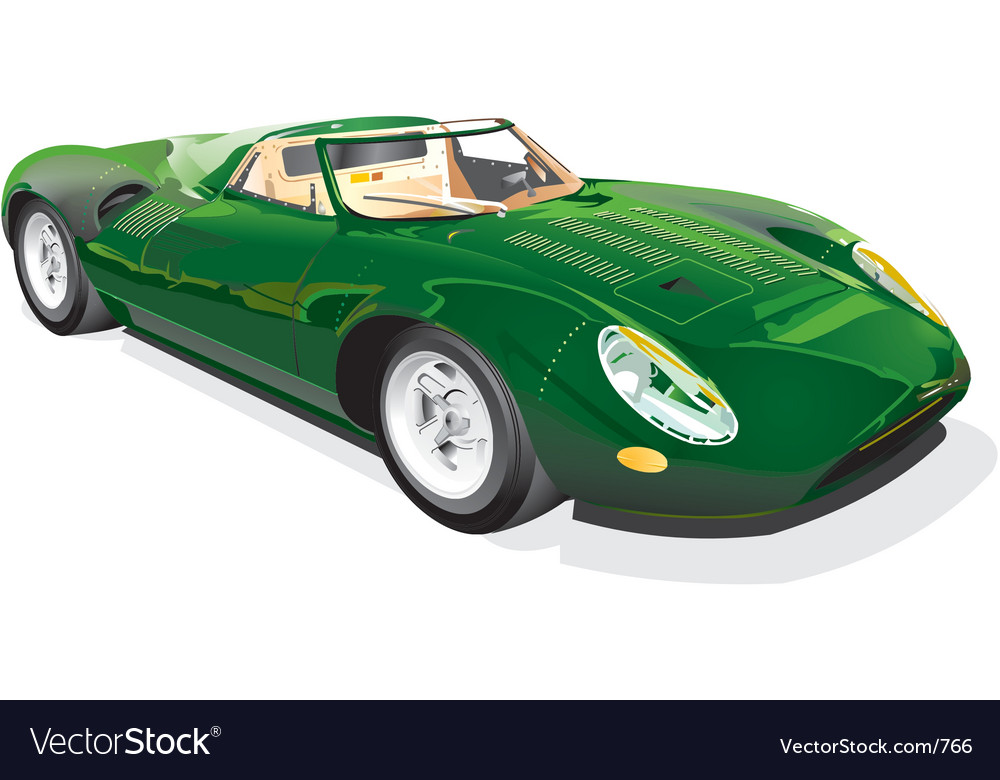 Green sportscar vector | Price: 5 Credit (USD $5)