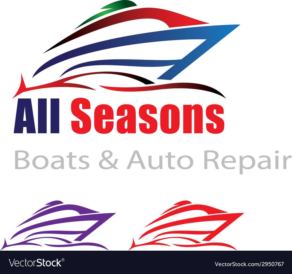 Car and boat repair vector | Price: 1 Credit (USD $1)