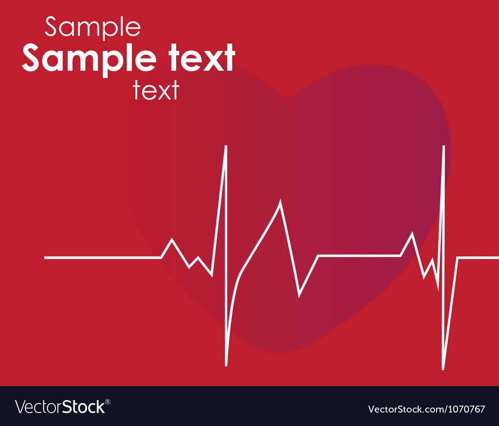 Cardiogram with heart vector   Price: 1 Credit (USD $1)
