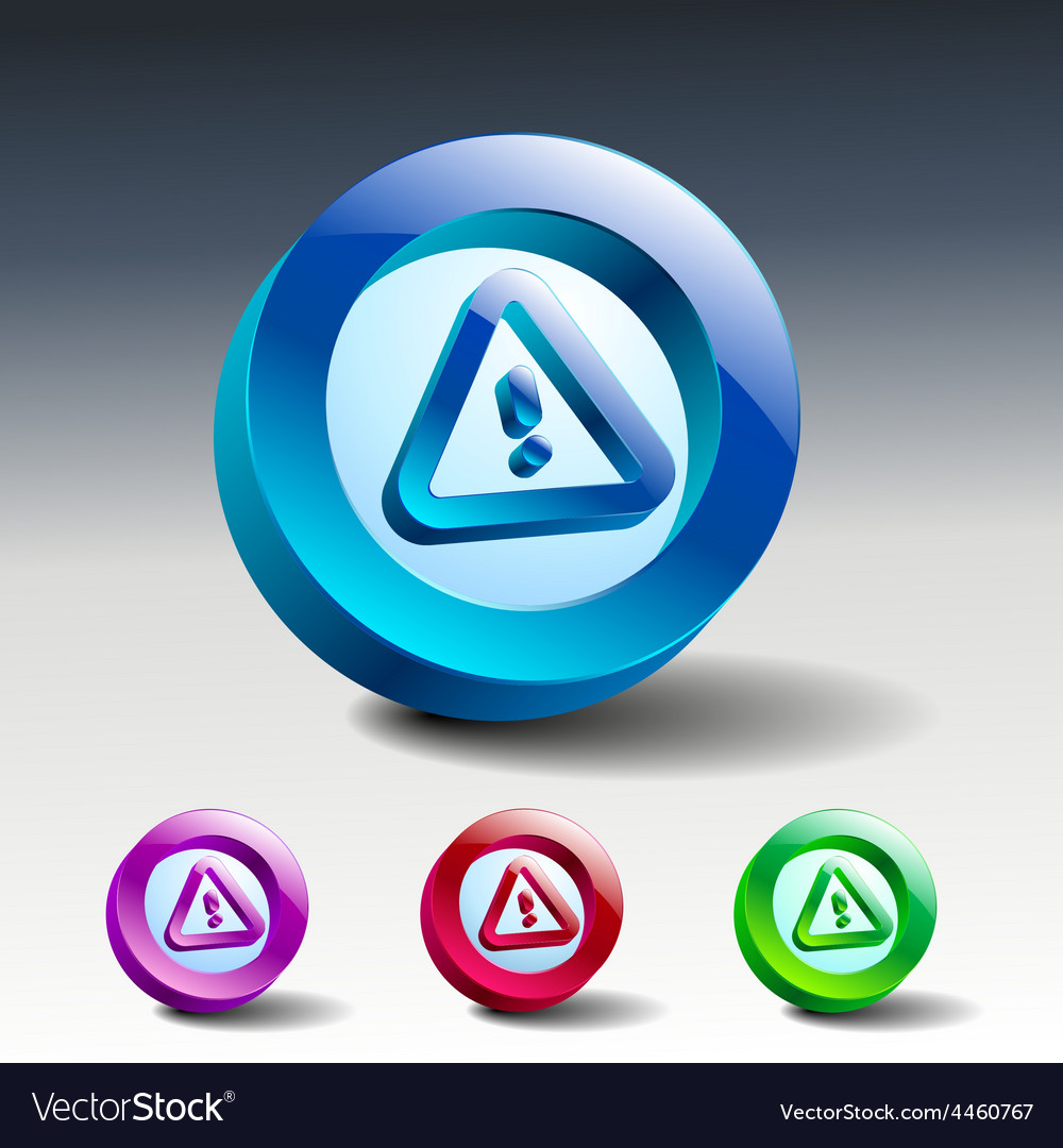Danger warning sign error icon caution vector | Price: 1 Credit (USD $1)