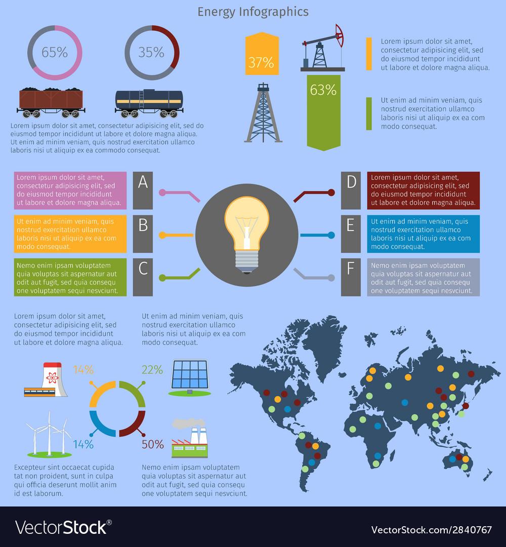 Energy infographics set vector | Price: 1 Credit (USD $1)