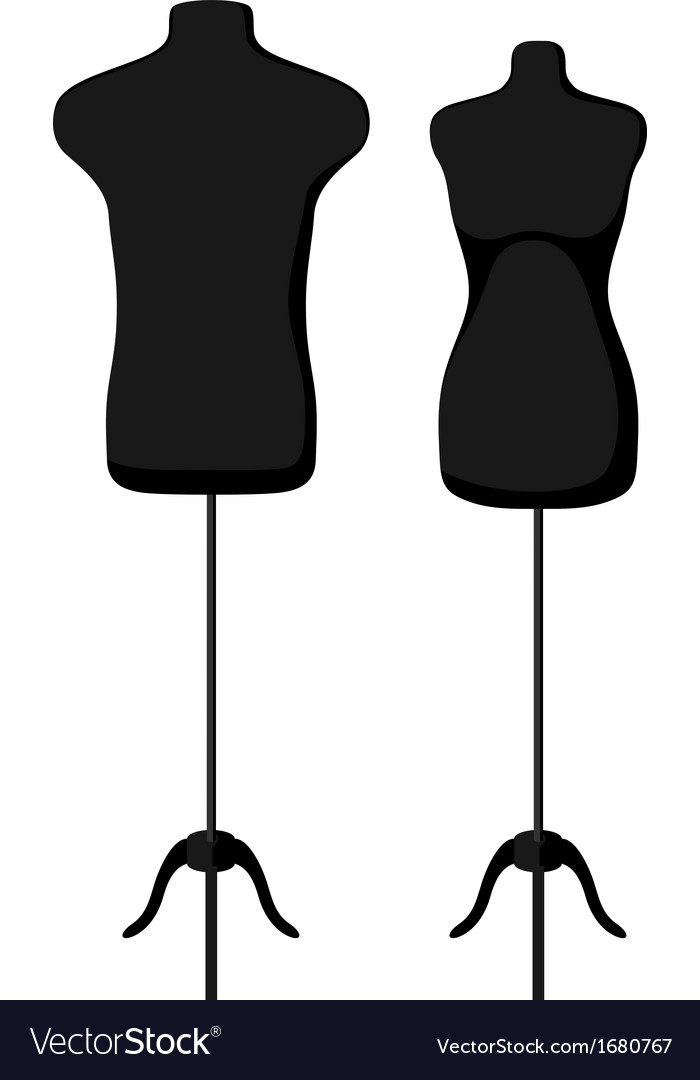 Male and female empty mannequin torso template vector | Price: 1 Credit (USD $1)
