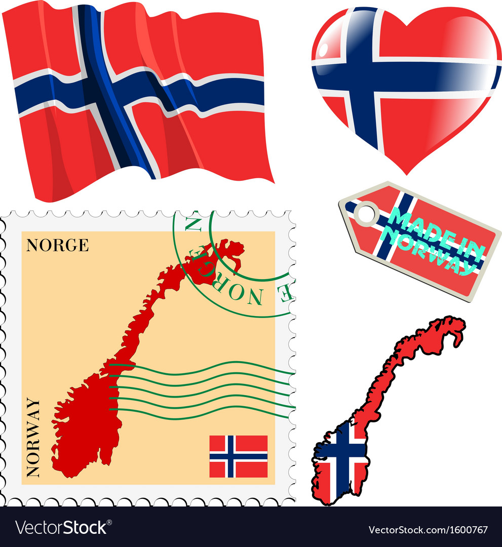 National colours of norway vector | Price: 1 Credit (USD $1)