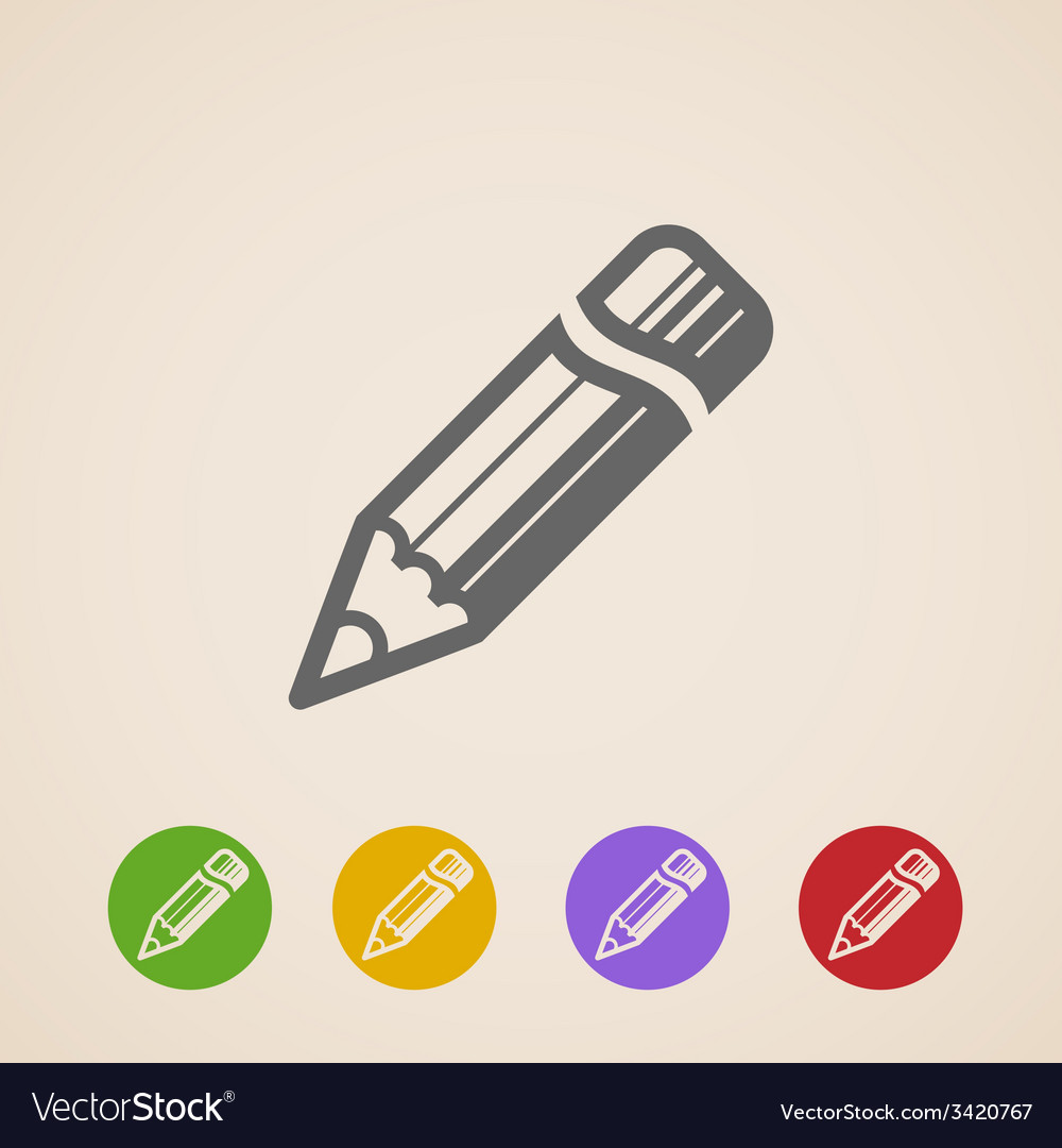 Pencil icons vector | Price: 1 Credit (USD $1)