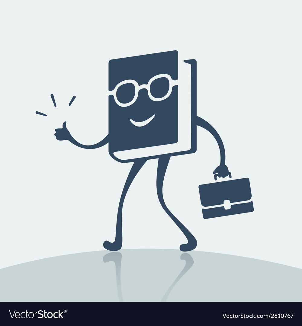 Symbol cheerful book vector | Price: 1 Credit (USD $1)