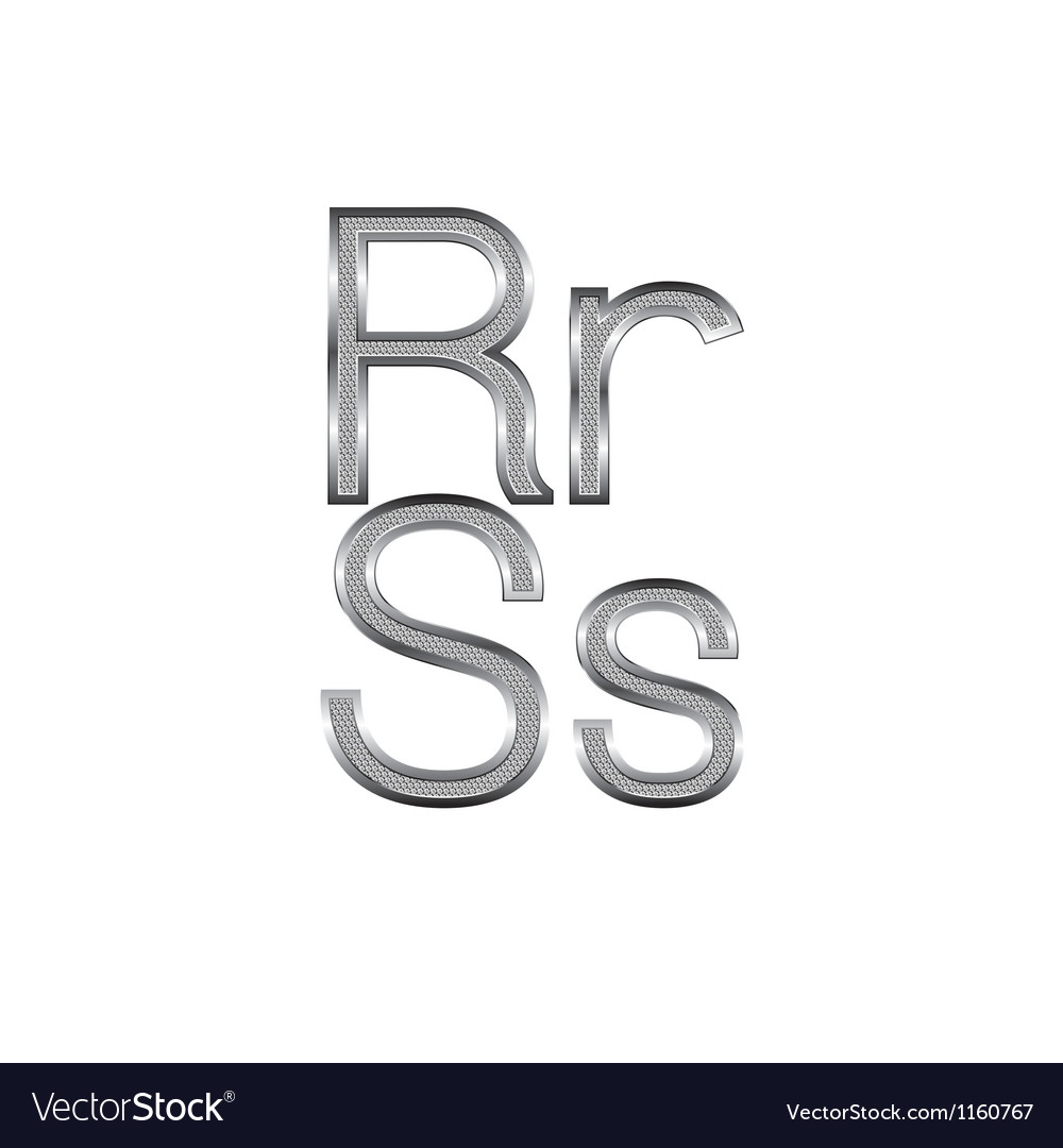 Thin diamond metal letters on white 09 vector | Price: 1 Credit (USD $1)