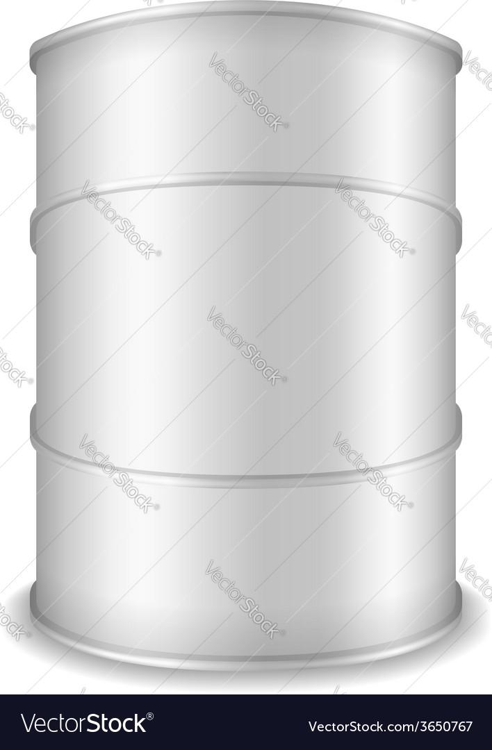 White barrel vector | Price: 1 Credit (USD $1)