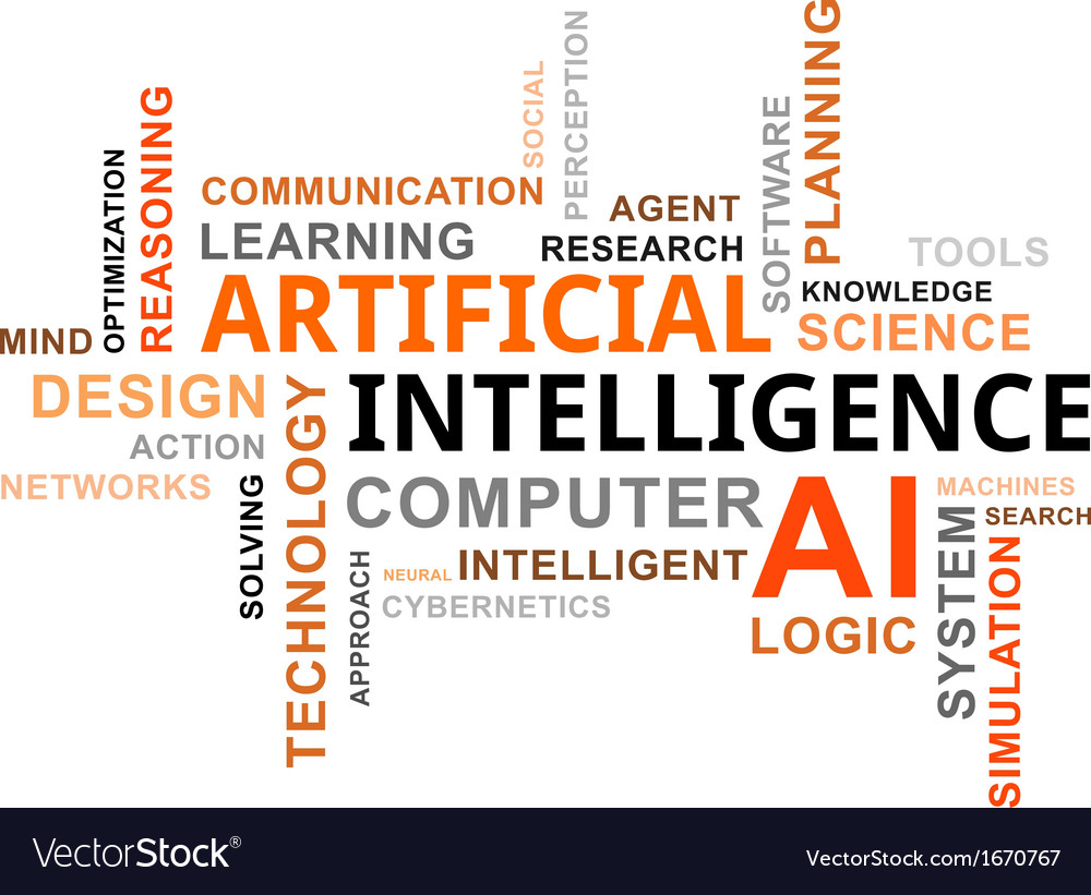 Word cloud artificial intelligence vector | Price: 1 Credit (USD $1)
