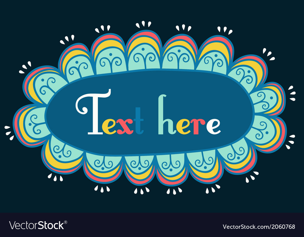 Abstract frame for your text vector | Price: 1 Credit (USD $1)