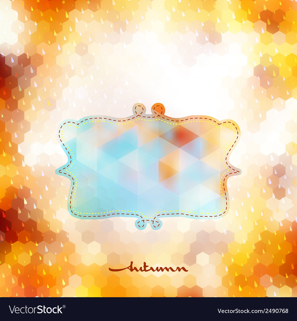 Autumn background with frame eps 10 vector | Price: 1 Credit (USD $1)