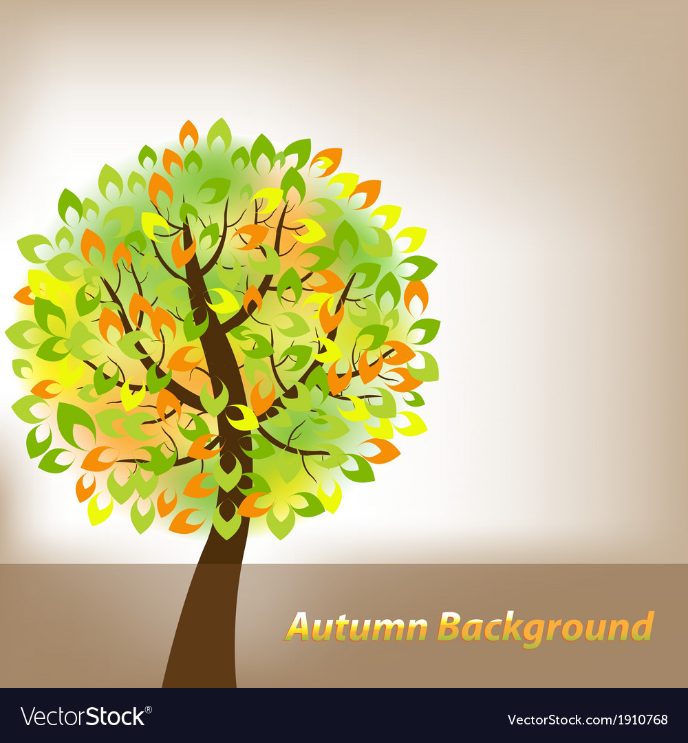 Autumn background with tree vector | Price: 1 Credit (USD $1)