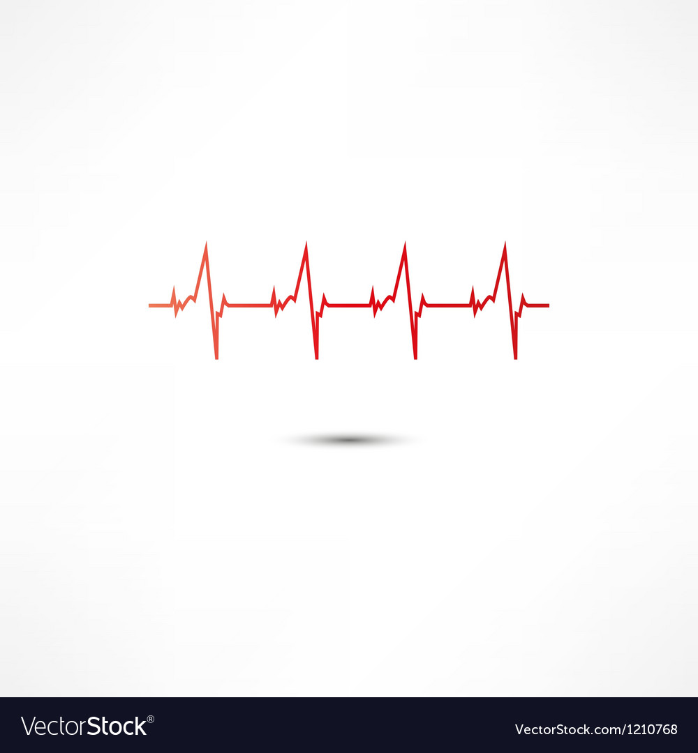 Cardiogram icon vector | Price: 1 Credit (USD $1)