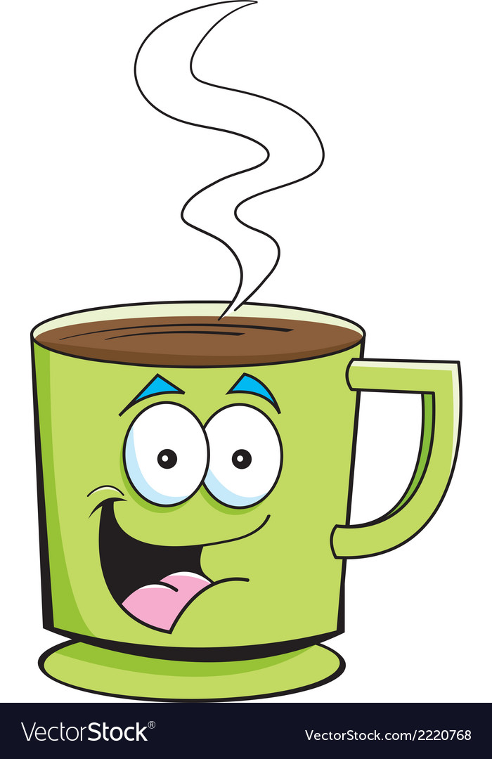 Cartoon cup of coffee vector | Price: 1 Credit (USD $1)