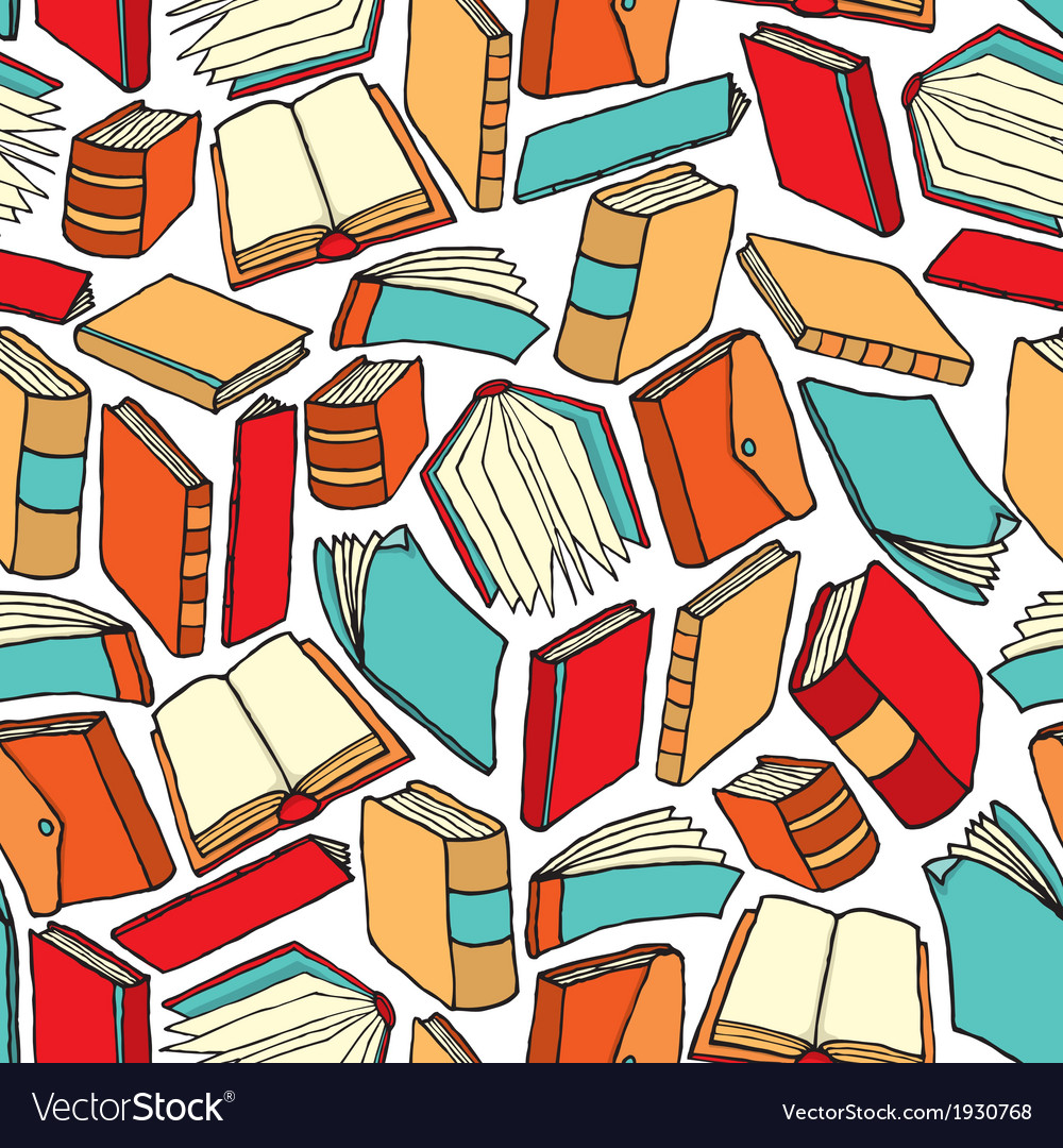 Cartoon texture of different books vector | Price: 1 Credit (USD $1)
