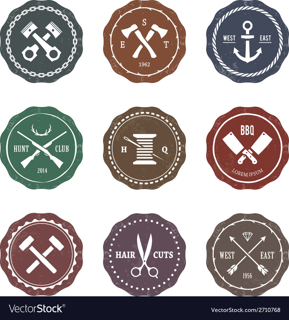 Crafts emblems 3 vector | Price: 1 Credit (USD $1)