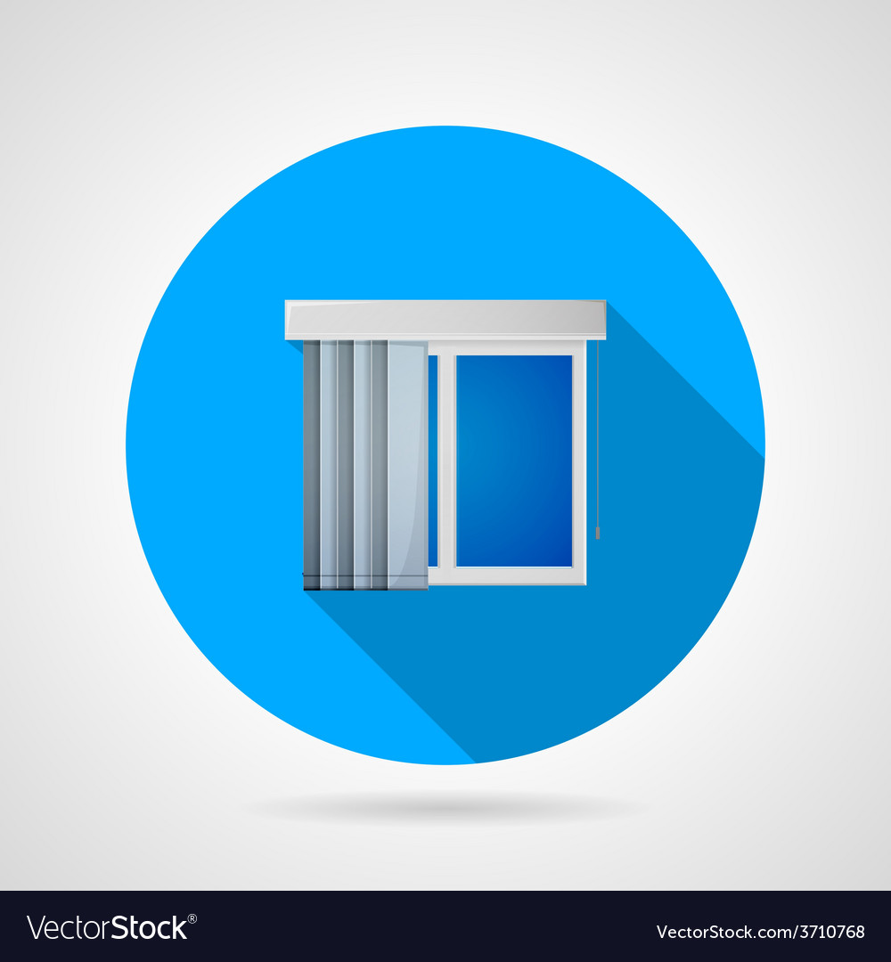 Flat icon for window with vertical louvers vector | Price: 1 Credit (USD $1)