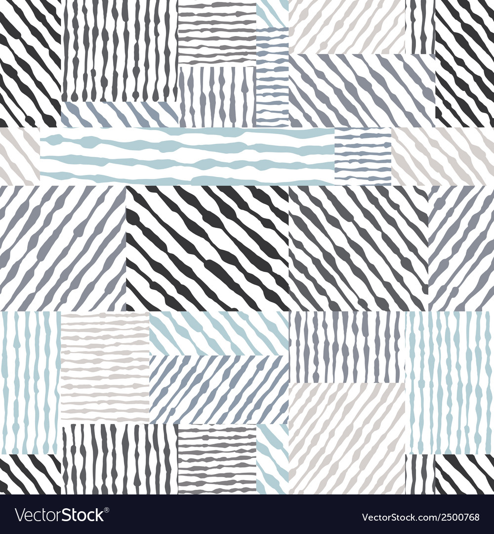 Hand drawn lines textures seamless pattern hand vector | Price: 1 Credit (USD $1)