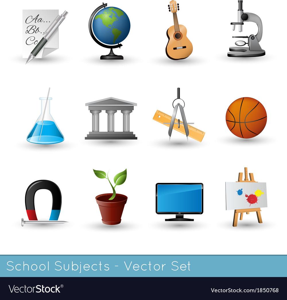 Icon set subjects vs vector | Price: 1 Credit (USD $1)
