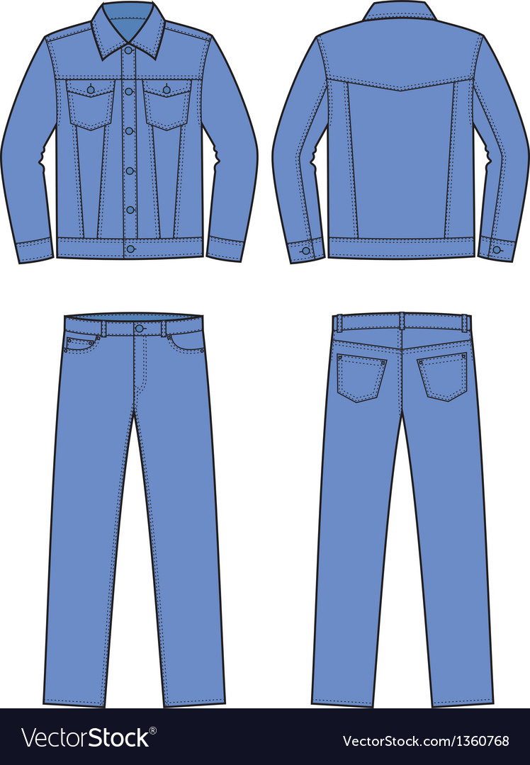 Jeans wear vector | Price: 1 Credit (USD $1)