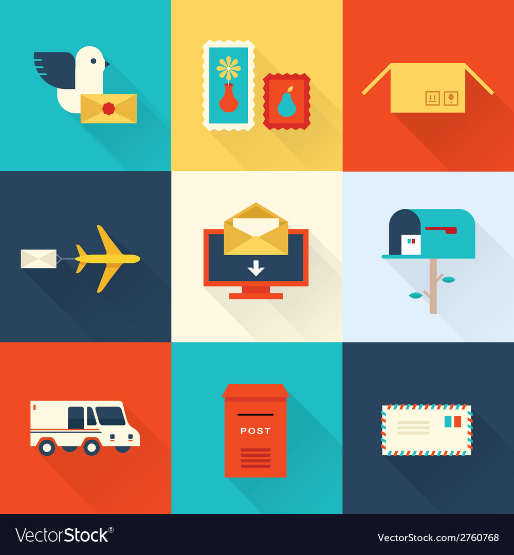 Mail set vector | Price: 1 Credit (USD $1)