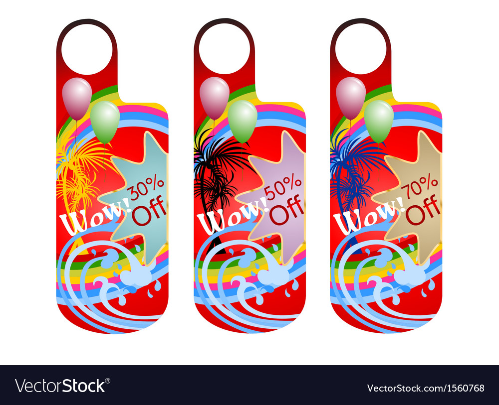 Promotion label vector | Price: 1 Credit (USD $1)